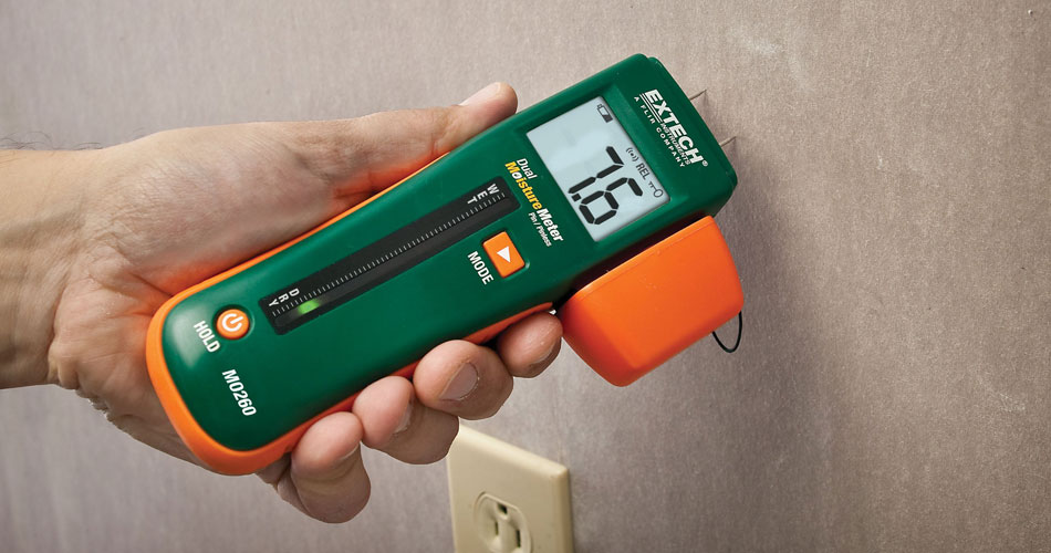 We Use Moisture Meters
